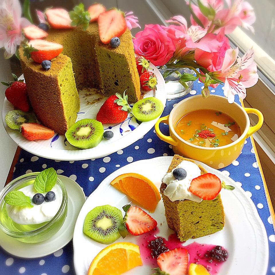 シフォンケーキのデコレーションアイデア21選!誕生日などのイベントに♪