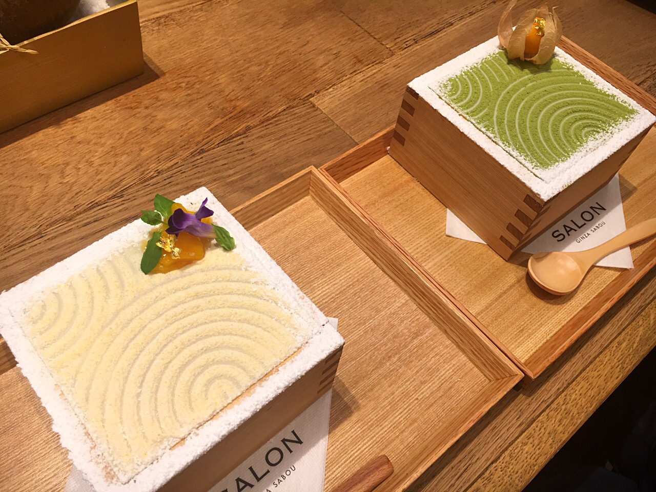 東京にもあった!銀座「サロンギンザサボウ」の升入り抹茶スイーツに注目♪