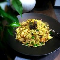 lamb and pea pulao