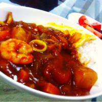 Seafood curry & rice