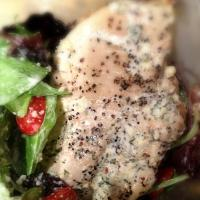 Grilled Chicken on Mixed Greens, Tomatoes and Parmesan