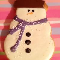 Starbucks chocolate frosted snowman cookie♡