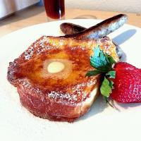 Brioche French Toast with Maple Blueberry Sausage