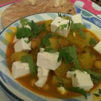 chickpea and potato tagine with feta