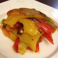 Grilled  3 colour bell pepper salad