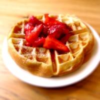 Belgian Waffle With Strawberry's