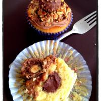 Filled ferero rocher cupcakes