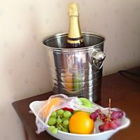 Champagne and fruit