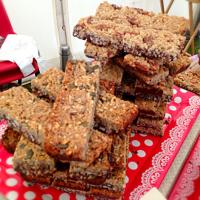 Mixed Seed and Maple and Pecan Granola Bars with Dark Belgian Chocolate