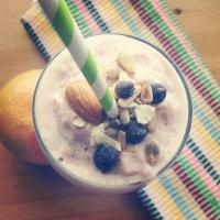 Almond banana nut smoothie
