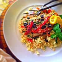 (Italian) Red Snapper and vegetable couscous