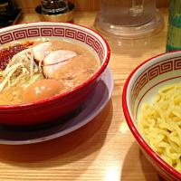 Tsukemen with soft boiled egg