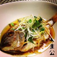黄鯛 紹興酒蒸し (清蒸鮮魚) Steamed yellowback sea bream with Shaoxing rice wine