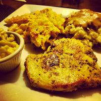 Peppercorn Chicken & Baked mac n Cheese
