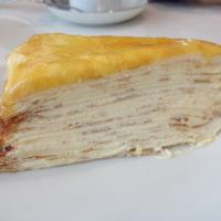 Layered crepes cake