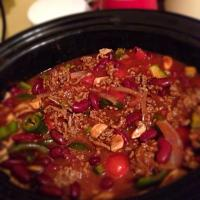 Winter warmer chilli in slow cooker 😊