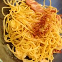 Quick stir white wine aglio olio