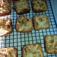 yucca and sweet corn muffins.