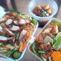 Pinoy Food: For Takeout #PancitWithLechon #ChickenChopsuey #PorkHumba
