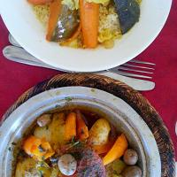 Moroccan Tagine and Couscous! Healthy and tasty!