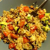 Israeli Couscous, Organic Tofu, Shallots and Tomatoes