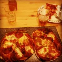 Pepperoni Pizza with base made from beer