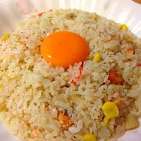 Salmon Fried Rice with Egg Yolk