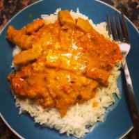 "Vegan ""chicken style"" curry"