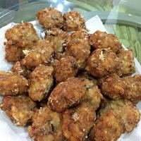Salted fish fried meat balls