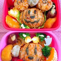 Lunch box☆Micky&Minnie's Jack-o'-Lantern☆お化けミッキー&ミニーカボチャ for Halloween🎃
