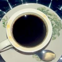 a cup of black coffee