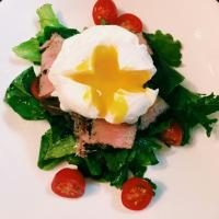 Tuna salad nicoise #Salad #tuna #poached egg