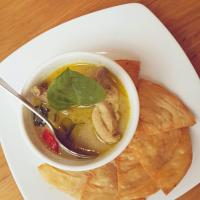Roti with Thai Chicken Green Curry