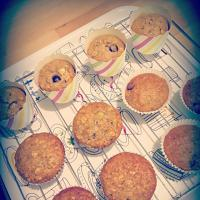 Banana Oatmeal Chocolate Chip Muffin