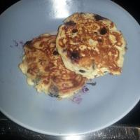 homemade blueberry pancake