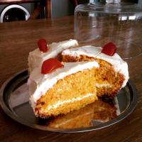Carrot and orange cake with cheesecake filling and frosting