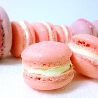 Raspberry French Macarons