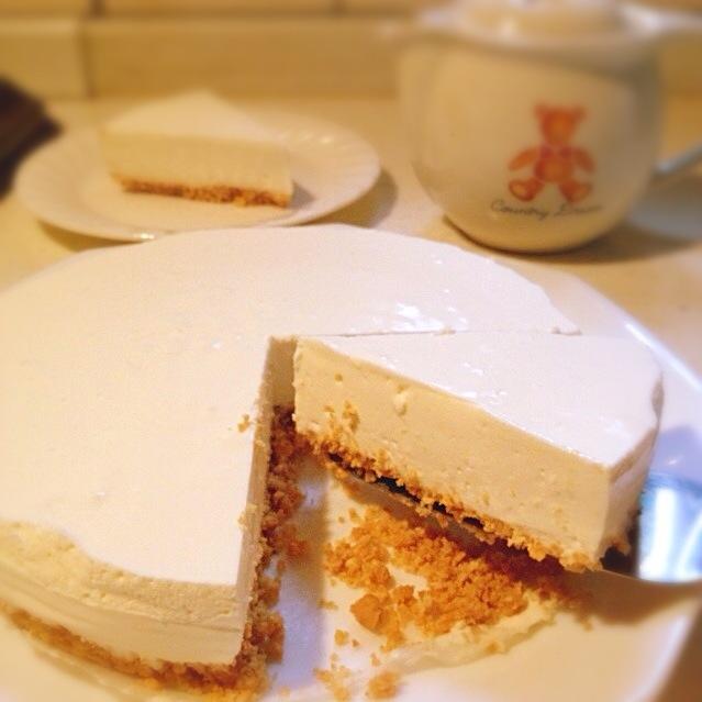 ケーキ ヨーグルト レアチーズ 【みんなが作ってる】 レアチーズケーキ