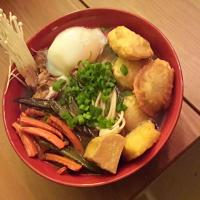 Ramen: Homemade Broth, Tare, Smoked Pork, Slow Poached Eggs, Dumplings, Rice Balls, and More!