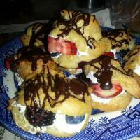 my chocolate berry profiteroles