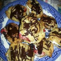 chocolate berry profiteroles