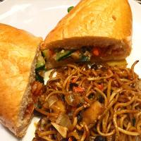 Vegan Bahn Mi with yakisoba noodles