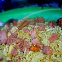 noodle with ham and chicken