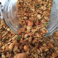 Granola with cashew nuts, walnuts and pumpkin seeds