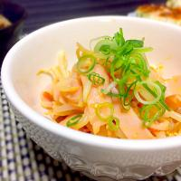 和田 匠生さんの料理 bean sprouts dressed with miso sauce!!