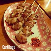 bbq chicken cartilage skewers