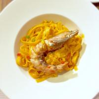 Prawns Pasta with Sea Urchin Sauce