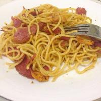 Pasta Aglio Olio With Smoked Beef