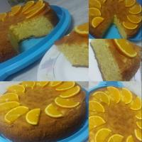 Orange Chiffon Cake  Ing: 2 cups flour 1 cup sugar + 1/2 for the egg whites 1/4 tsp salt 2 tsp baking powder Orange zest 1 cup fresh orange juice 1/3 cup oil 1/