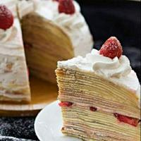 #strawberry mille #crepe#cake